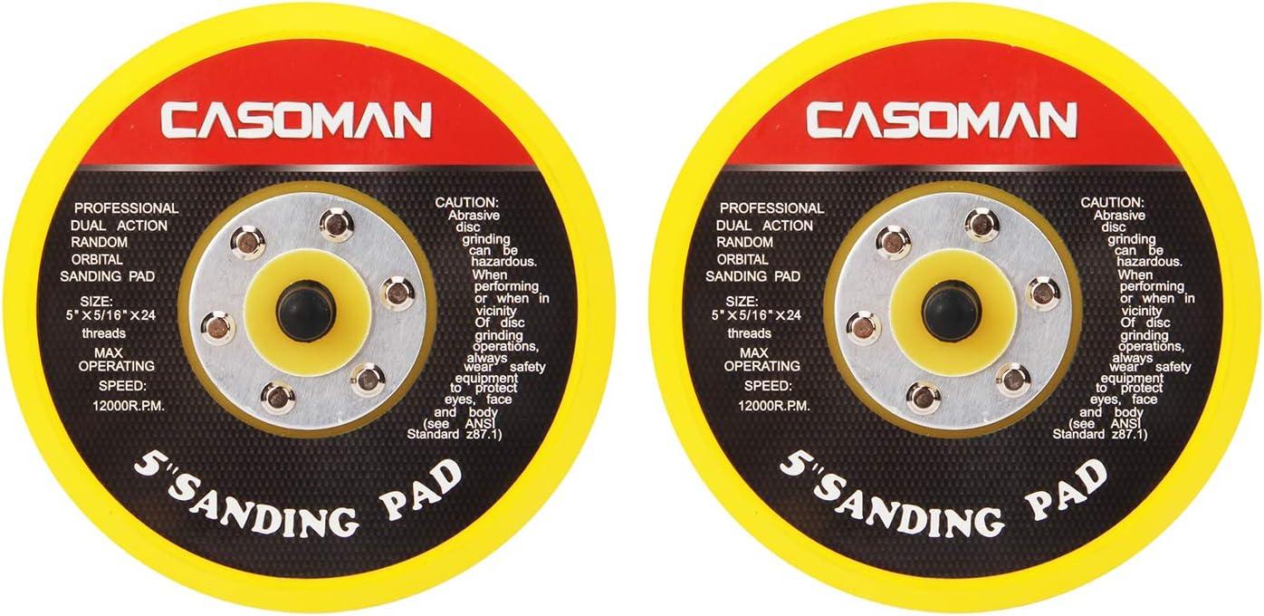 CASOMAN 5-Inch DA Polisher Sander Pad Loop Ran Face - Max SEAL limited product 88% OFF Hook