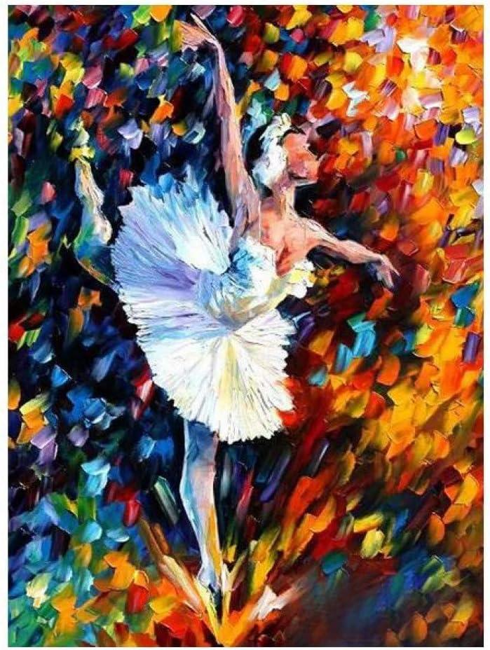 GWFVA 100% Hecho a Mano Bailarines de Ballet Cuchillo de Paleta Pintura al óleo sobre Lienzo Cuadros Modernos del Arte de la Pared para la decoración de la Sala de Estar sin Marco