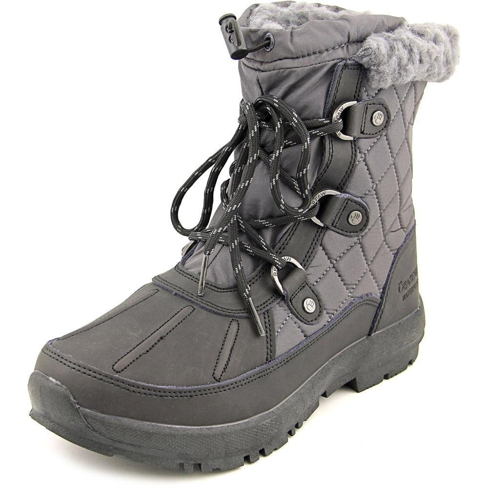 BEARPAW Women's Bethany Snow Boot, Black/Grey, 7 M US