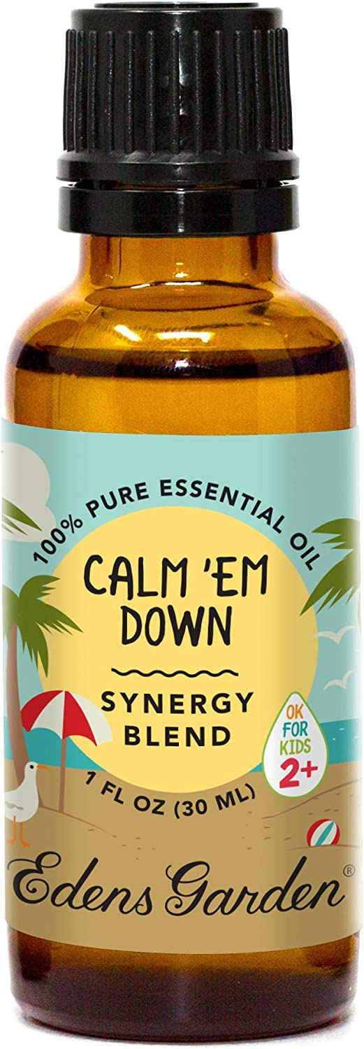 "Edens Garden Calm 'Em Down""OK For Kids"" Essential Oil Synergy Blend, 100% Pure Therapeutic Grade (Child Safe 2+, Anxiety & Stress) 30 ml"
