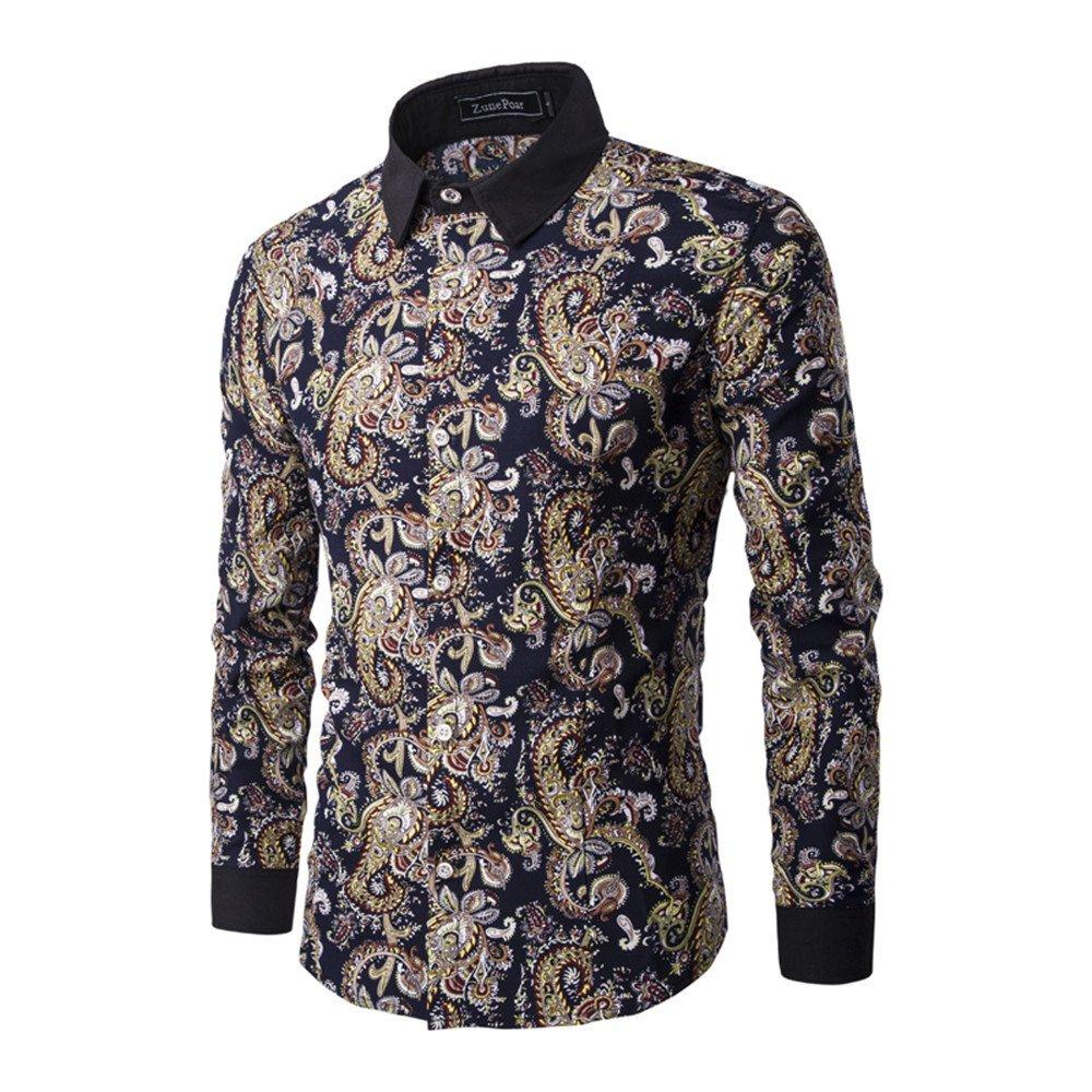 Männer - t - Shirt mit Langen ärmeln männlichen Hemd Mode und Freizeit,Farbe,m