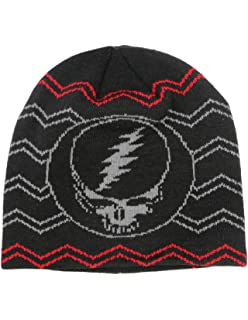 17a9b170489ca Grateful Dead Steal Your Face Knit Beanie Skull Cap Winter Hat - 2 Colors