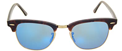 dd5dc8258d New Ray Ban Clubmaster Flash RB3016 114517 Tortoise Grey Mirror Blue 51mm  Sunglasses