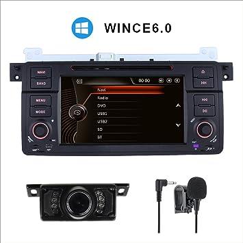 """GPS DVD estéreo para BMW E46 M3 Convertible Bmw 3 Compact Touring 7 """"navegador"""