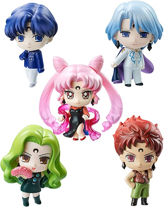 Sailor Moon Petit Chara Pretty Soldier Pack de 5 Figuras Black Moon 6 cm: Amazon.es: Juguetes y juegos