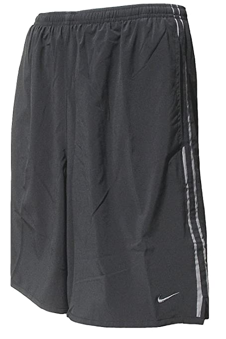 Nike Black Dri Fit Microfiber Side Vent Reflective Running Shorts