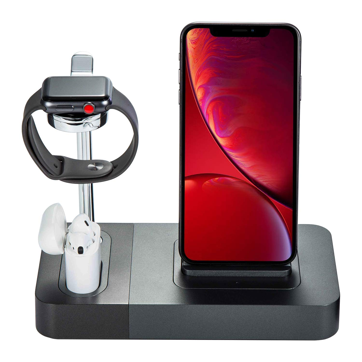 Co-Goldguard Phone Wireless Charger 3 in 1 Charger Station Charging Stand Airpods Charging Station Compatible with iPhone X XS MAX XR 8 Plus Black by Co-Goldguard