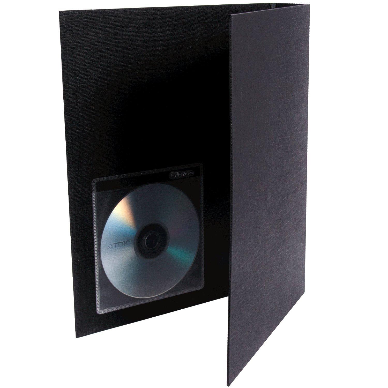 5-Pack Fellowes 98315 Adhesive CD//DVD Holders