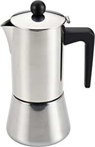 BonJour Coffee Stainless Steel Stovetop Espresso Maker, 14-Ounce