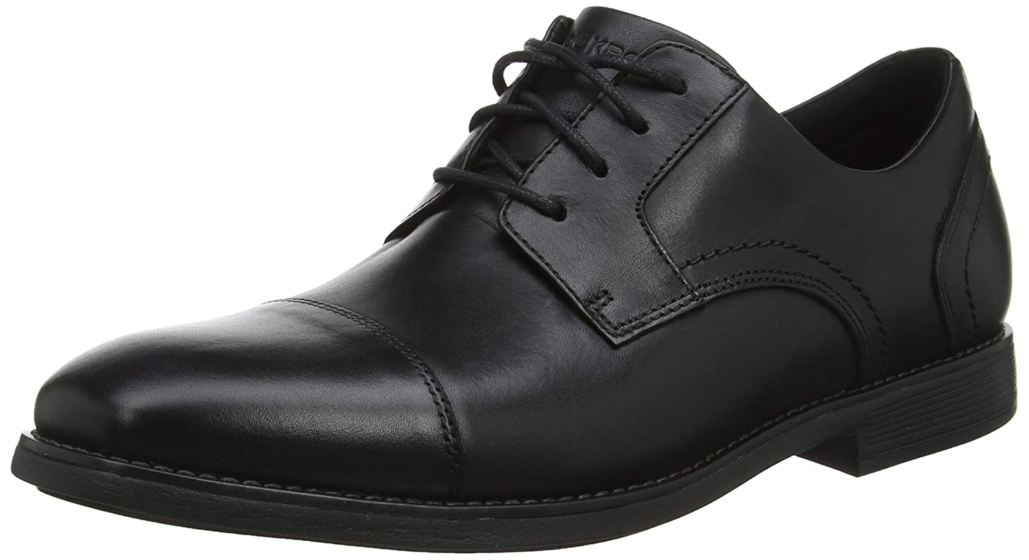 Rockport Slayter Cap Blucher Black, Zapatos de Cordones Oxford para Hombre