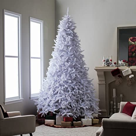 artificial christmas tree this fake 10 foot xmas classic style white pine tree flame