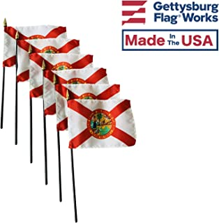 product image for 4x6 E-Gloss Florida Stick Flag - Flag Only - Qty 6