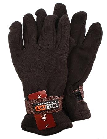 Dark Purple Sporting Fleece Gloves