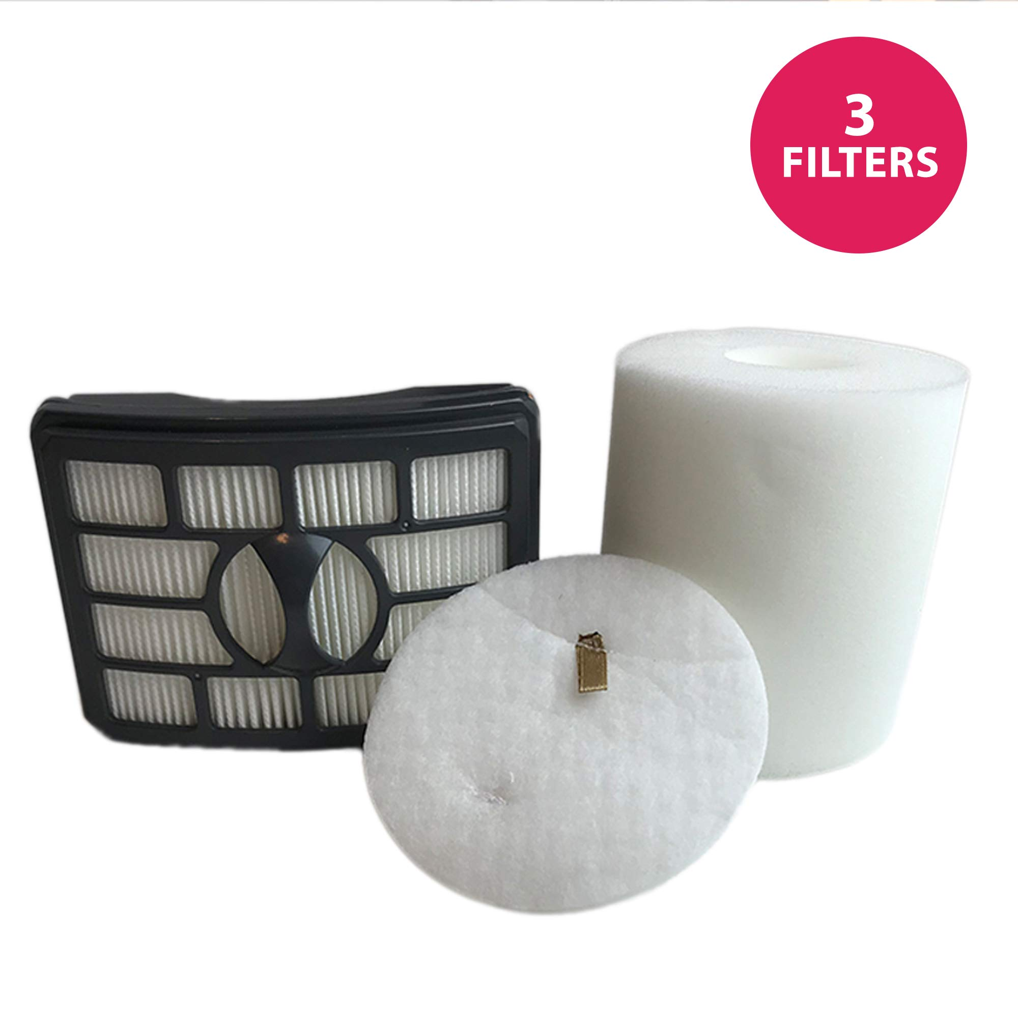 Think Crucial Replacement for Shark NV500 HEPA Style, Foam & Felt Filters Fit Rotator Pro NV500, Compatible with Part # XFF500 & XHF500 by Crucial Vacuum