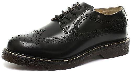 Grinders Bertrum Black Mens Lace up Brogue Shoes Size UK 3