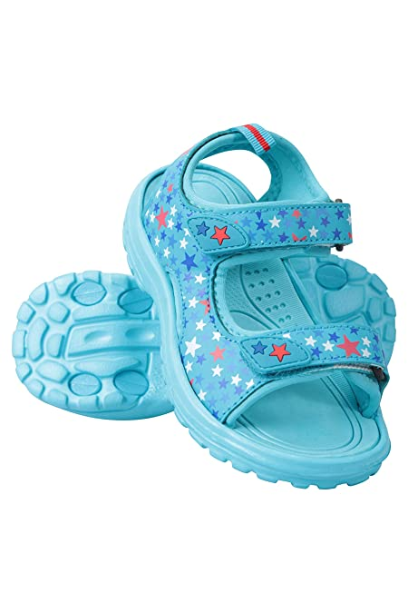 6bad3d4514315 Mountain Warehouse Sand Girls Sandals - Neoprene Kids Beach Shoes Light  Teal 1 Child US