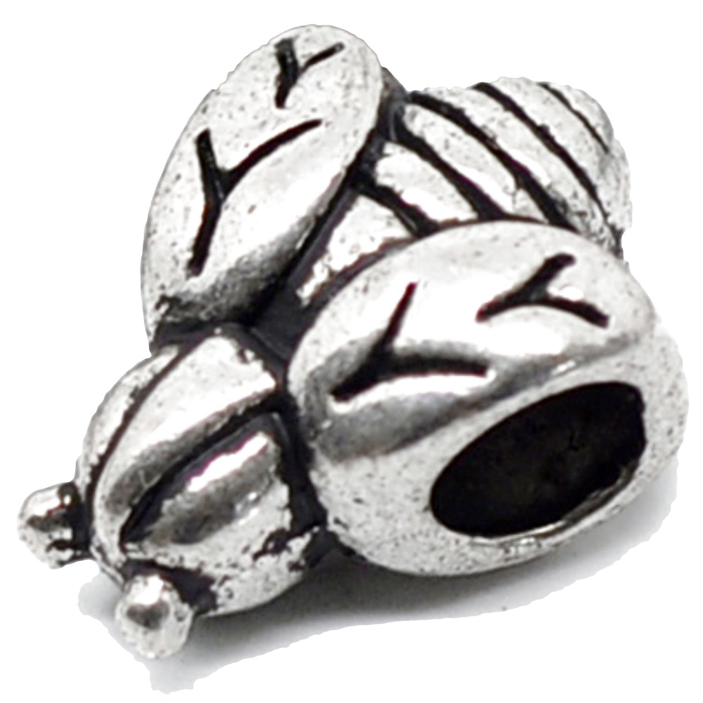 Charm Buddy Honey Bumble Bee Charm Fits Silver Pandora Style Bracelets