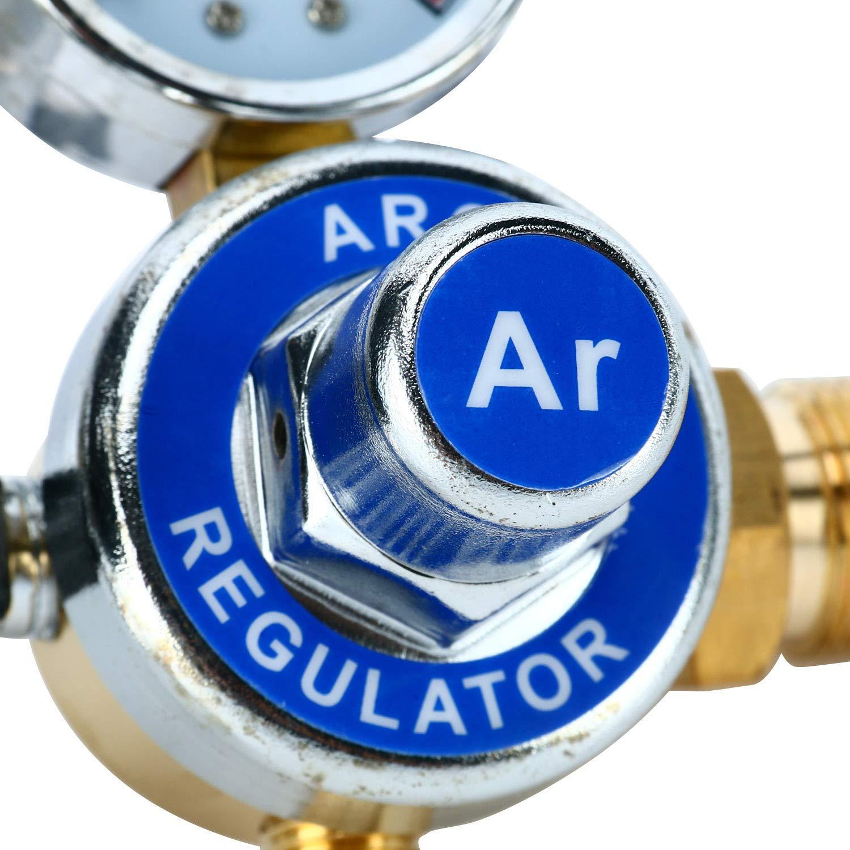 0 to 25 MPA Pressure Gauge CGA580 Inlet Connection Gas Welder Welding Regulator with Built-In Flow Meter Argon Regulator With Flowmeter TIG Welder MIG Welding CO2 Regulator 0 to 25 L//MIN
