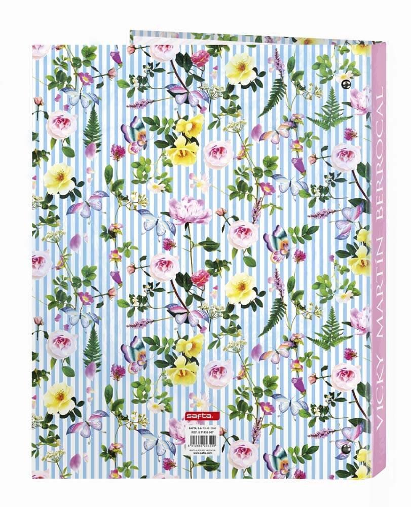 dise/ño Vicky Martin Berrocal Carpeta folio 4 anillas lomo ancho Safta SF-511736-657