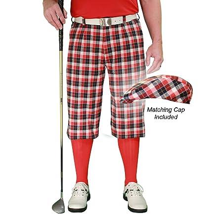 9e450e244c1 Amazon.com   Golf Knickers Plaid and Cap  Mens  Par 5  - Aberdeen ...