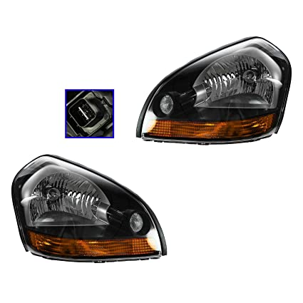 Headlight Headlamp W/Amber Corner L Left R Right PAIR For 05 09 Hyundai