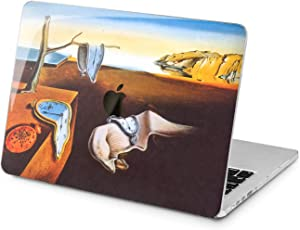 "Cavka Hard Shell Case for Apple MacBook Pro 13"" 2019 15"" 2018 Air 13"" 2020 Retina 2015 Mac 11"" Mac 12"" Laptop Plastic Print Melting Clock Design Salvador Dali Protective Cover Persistence of Memory"