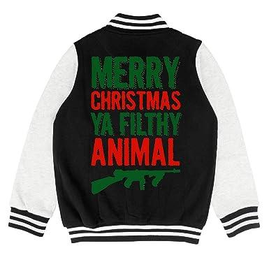 9abec2c41 Amazon.com: Kids Merry Christmas Ya Filthy Animal Youth Jacket for Girls  Boys Toddler Soft Coats: Clothing
