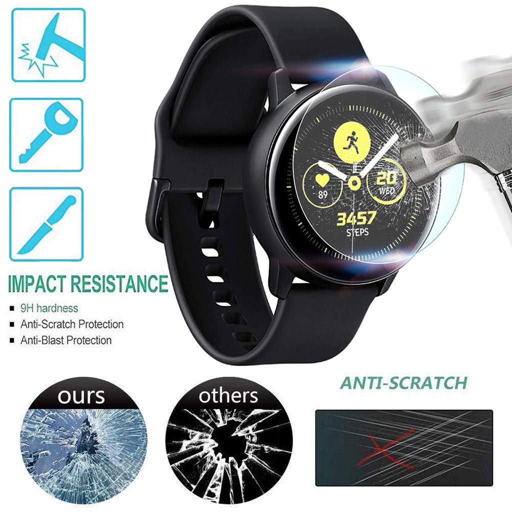 Xindda 1 Pack Tempered Glass Screen Protector for Samsung Galaxy Watch Active