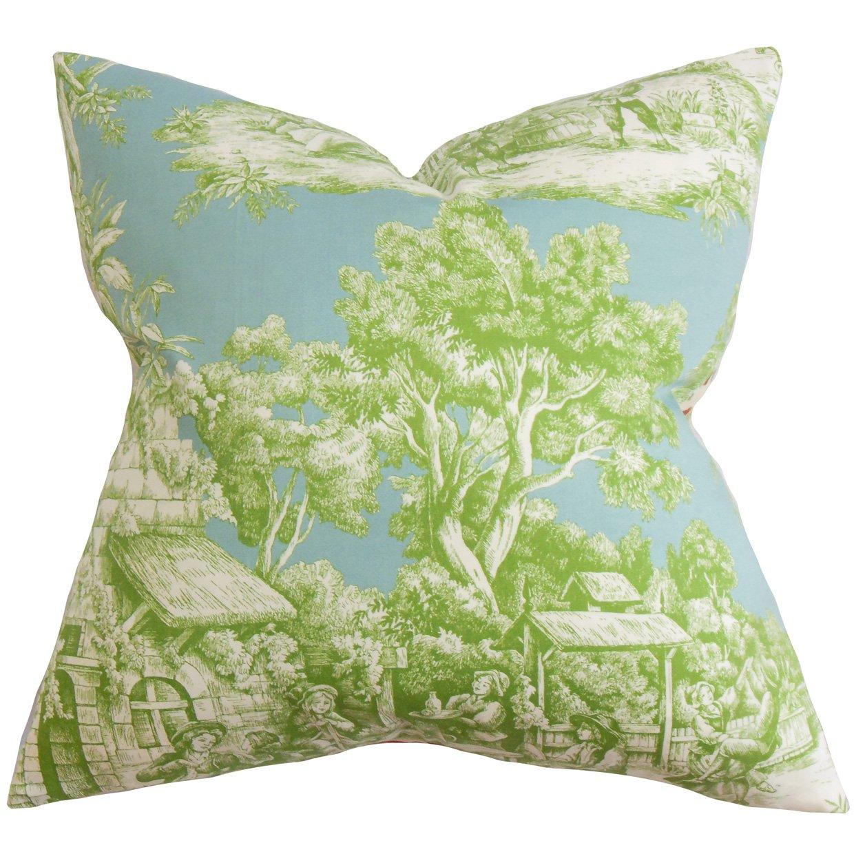 The枕コレクションp20-ernesttoile-aquagreen-c100 Evliaトワール枕、グリーン、20