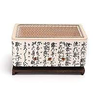 Hibachi Yakitori Special Grill weiss klein Exclusive Balkon Camping Picknick ✔ eckig ✔ tragbar ✔ Grillen mit Holzkohle ✔ für den Tisch