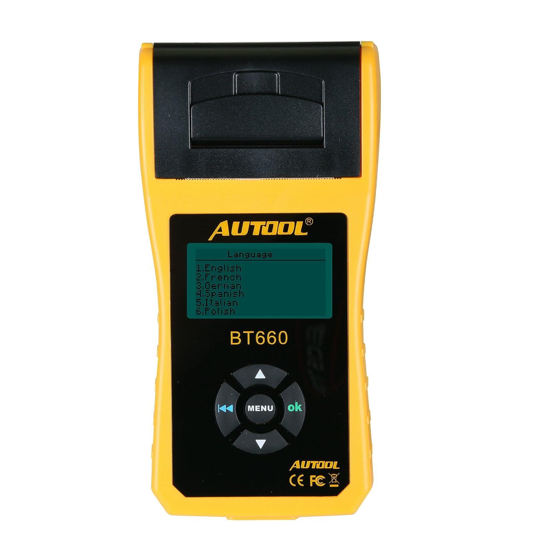 Car Battery Tester Analyzer Autool BT660 12V/24V Conductance Tester,Automotive Diagnostic Tools For Heavy Duty Trucks, Light Duty Truck, Cars TulanAuto