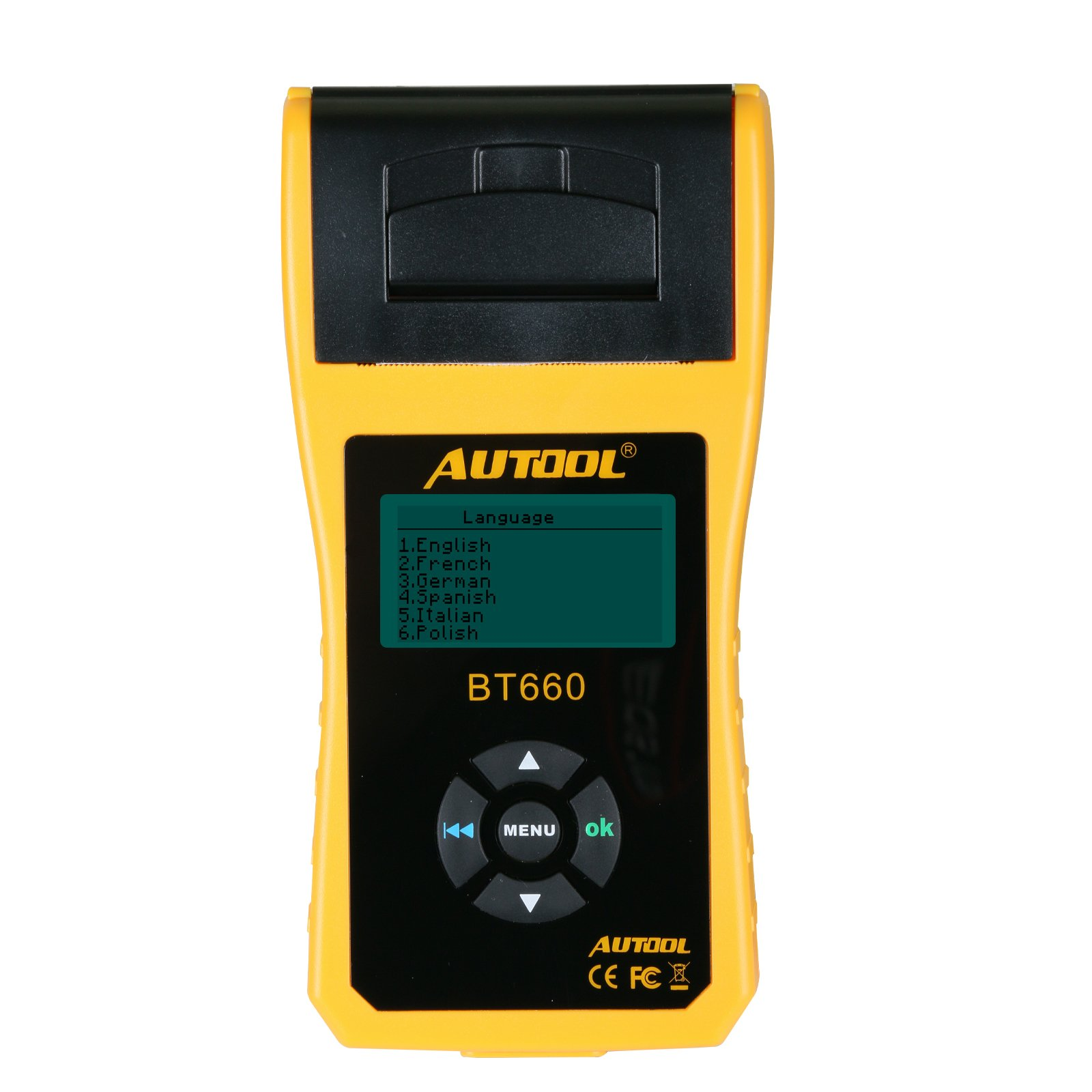 TuLanAuto 12V/24V Autool BT660 Battery Conductance Tester BT-660 Auto Battery Testers Automotive Diagnostic Tools For Heavy Duty Trucks, Light Duty Truck, Cars