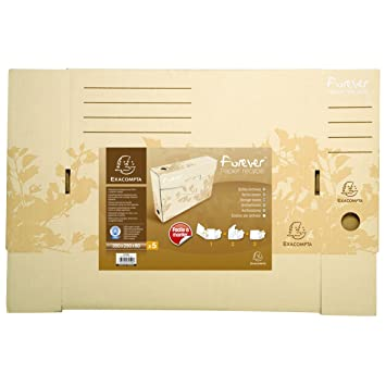 Exacompta 79500E - Pack de 5 archivadores definitivos, color beige: Amazon.es: Oficina y papelería