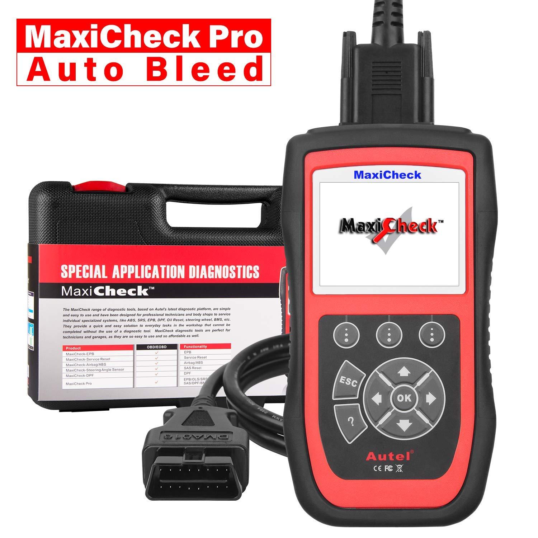 Airbag SRS Purge Automatique ABS EPB SAS 2000 /à 2012 BMS pour V/éhicules Sp/écifiques Autel MaxiCheck Pro Outils de Diagnostic Auto OBD2 Lecteur de Code OBDII Scanner avec R/éinitialisation dHuile