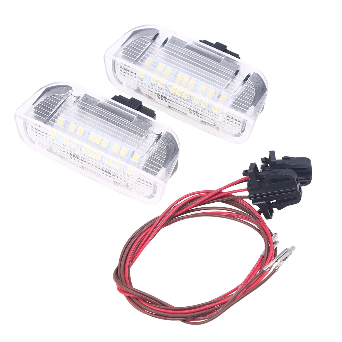 POSSBAY 2Pcs LED Car Auto Interior Door Courtesy Light Lamp for Volkswagen Golf 5 6