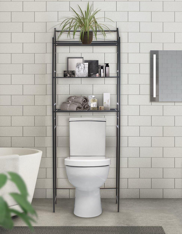 Sorbus Bathroom Storage Shelf Over Toilet Space Saver Freestanding Shelves For Bath Essentials Planters Books Etc