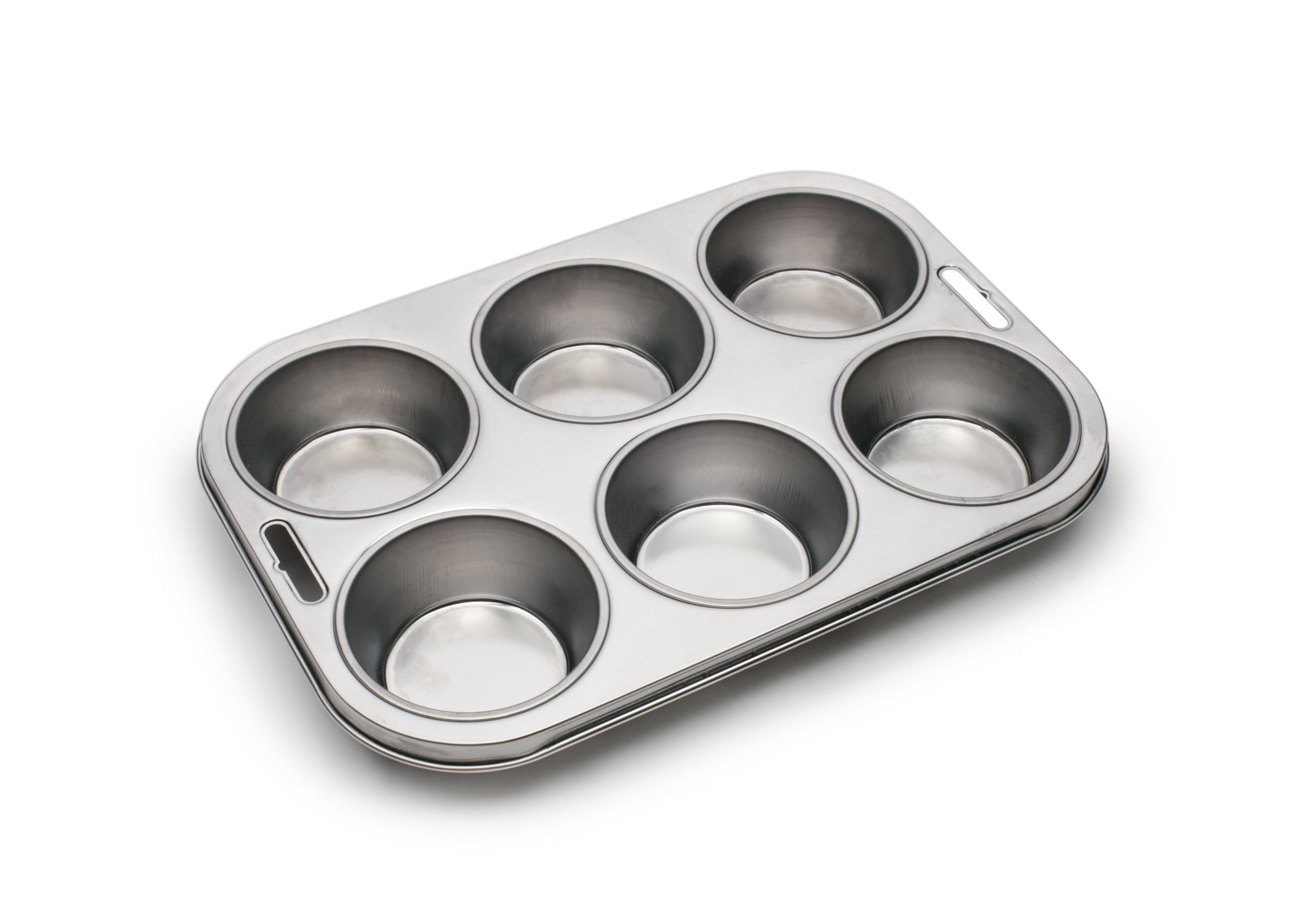 Fox Run 4867 Muffin Pan, 6 Cup, Stainless Steel by Fox Run