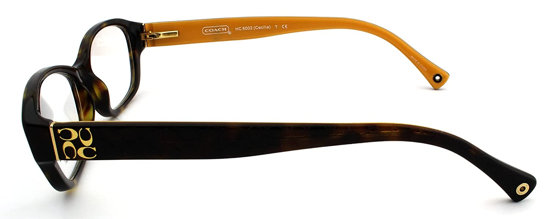 a22d53187b Amazon.com  Coach CECILIA HC6002 Eyeglasses (5055) Dark Tortoise ...