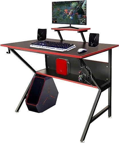 Reviewed: Lavievert Ergonomic Gaming Desk Home Office PC Computer Desk K-Shaped Professional Gamer Table Workstation