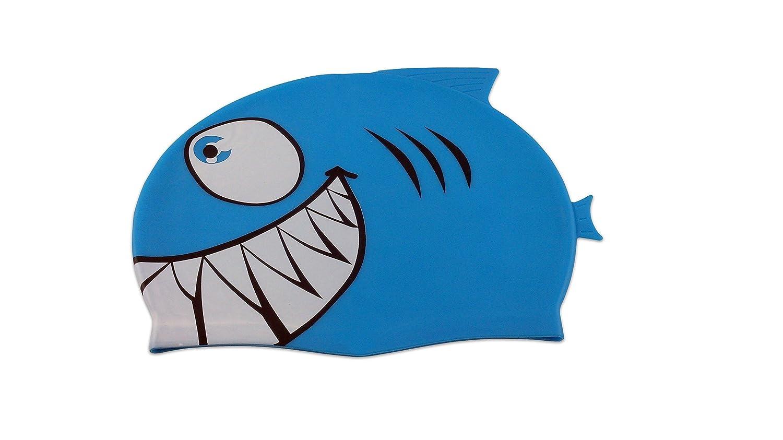 1482b58a7ea51 Touca Infantil Tubarão Azul Rosa Esporte Natação Piscina Nadar Proteção  Cabelo Promoção Liquidação Barato Oferta Top  Amazon.com.br  Esportes e  Aventura