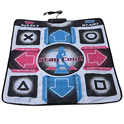 Yuehuam Dance Mat Non-Slip Wear-Resistant Dancing Step Pad Durable Musical Play Mat Dancer Blanket with USB Connection for PC/Windows 98/2000/ XP/ 7OS, Gifts for Kids Adults Black: Clothing