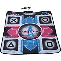 Yuehuam Dance Mat Non-Slip Wear-Resistant Dancing Step Pad Durable Musical Play Mat Dancer Blanket with USB Connection for PC/Windows 98/2000/ XP/ 7OS, Gifts for Kids Adults Black