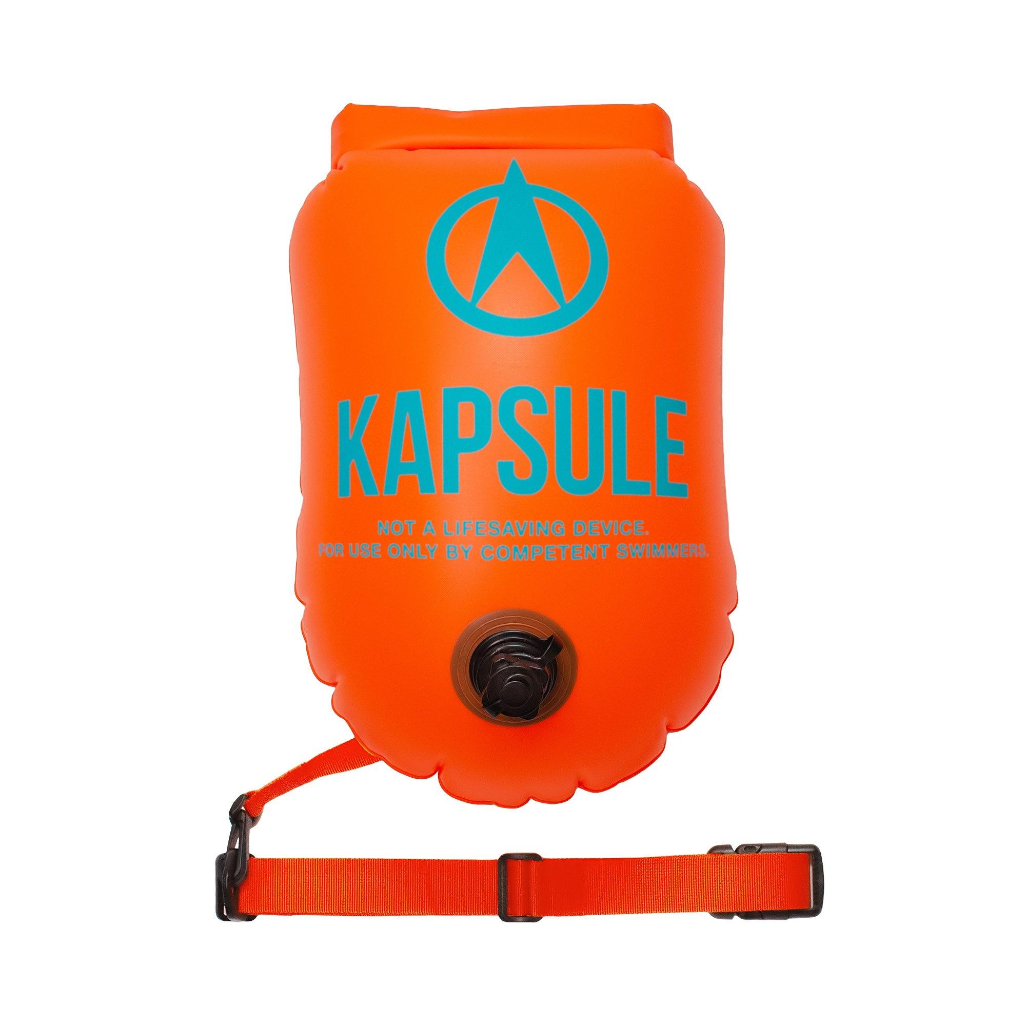 KAPSULE Swim Buoy (NEON 20L Orange) - Personal Swimming Float and Dry Bag by KAPSULE (Image #1)
