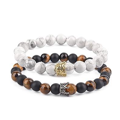 e153c91cdb1f65 Believe London Distance Bracelets Couples Bracelets Relationship Bracelets  | Strong Elastic | Friendship Relationship Couples His Hers | Black Agate  Onyx ...