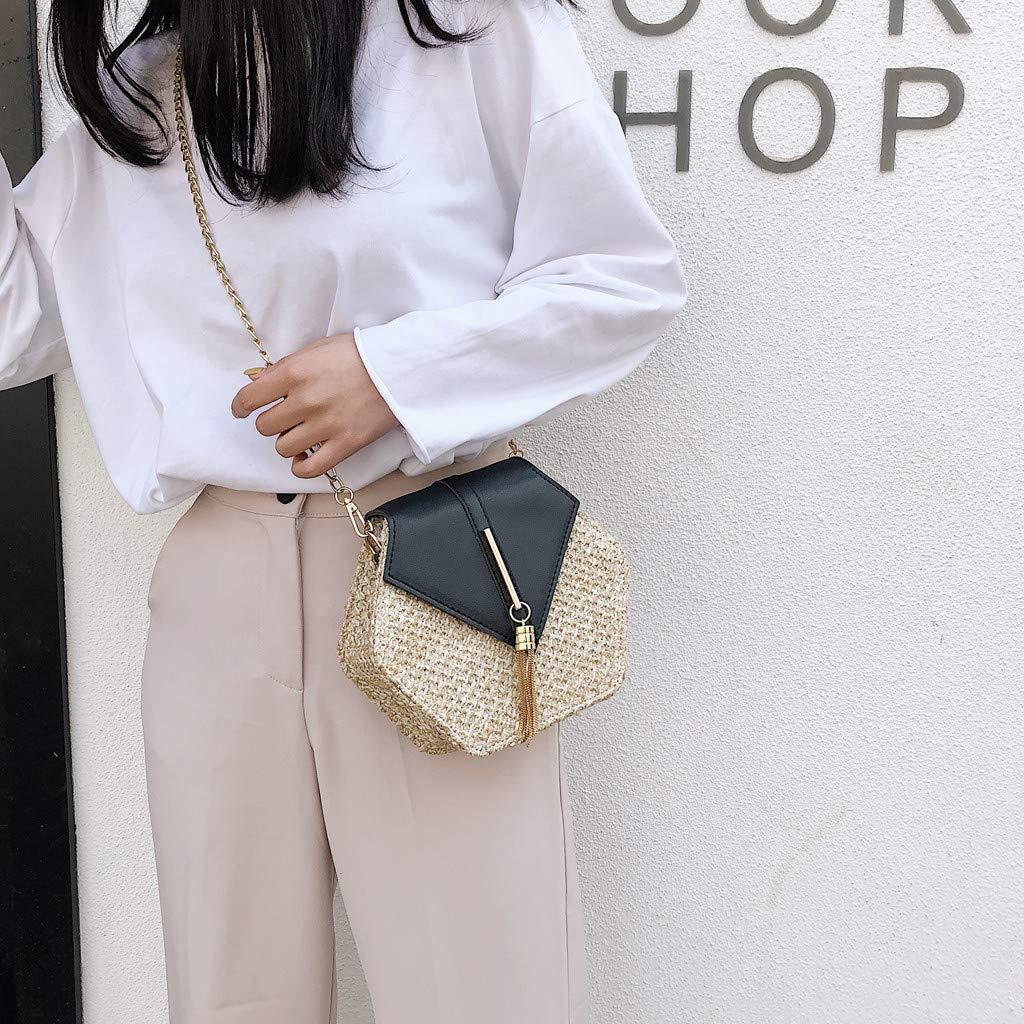 079c38f62d4d Amazon.com: Rakkiss Women Crossbody Bag Fashion Weave Retro Shoulder ...