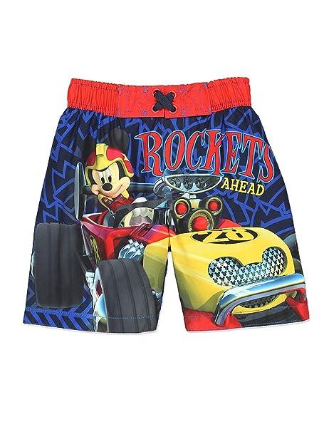 ae11f302b7 Amazon.com: Mickey Mouse Boys Swim Trunks Swimwear (Baby/Toddler ...