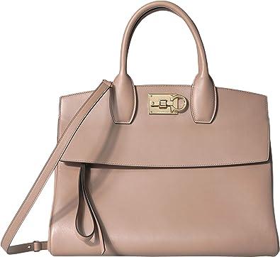 4a4fbe24cda Amazon.com  Salvatore Ferragamo Women s The Studio Handbag Fango One Size   Shoes