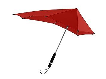 SENZ Regenschirm Original - Paraguas tradicional, color rojo, talla M