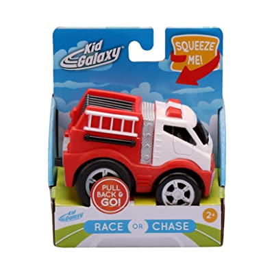 Kid Galaxy Squeezable Pull Back Fire Truck. Toddler Wind Up Toy Kids Age 2 and Up: Toys & Games [5Bkhe1803745]