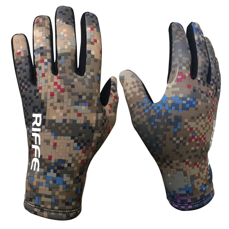 Riffe Black Amara/COVI-TEK Camo Neoprene Spearfishing Glove (X Small) by Riffe